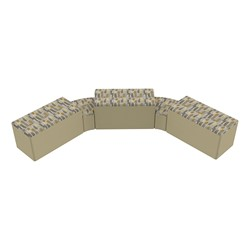 """Shapes Series II Designer Soft Seating - Two 12"""" H Wedges & Three 18"""" H Rectangles (Pack of Five) - Desert/Sand"""
