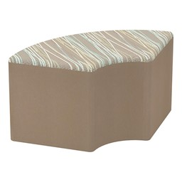 Shapes Series II Designer Soft Seating - Quarter Round Desert Fabric