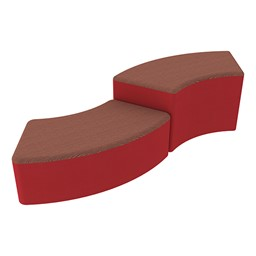 Shapes Series II Designer Soft Seating - S-Curve - Brick/Red