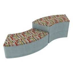 Shapes Series II Designer Soft Seating - S-Curve - Confetti/Blue