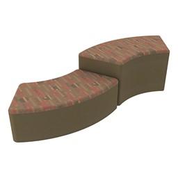 Shapes Series II Designer Soft Seating - S-Curve - Dark Latte/Chocolate