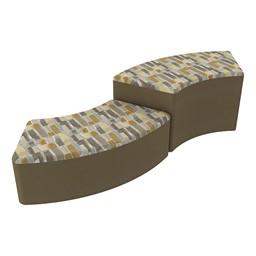 Shapes Series II Designer Soft Seating - S-Curve - Desert/Chocolate
