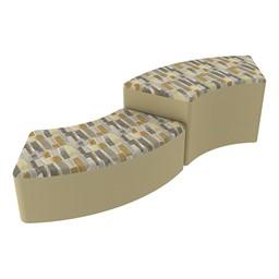 Shapes Series II Designer Soft Seating - S-Curve - Desert/Sand