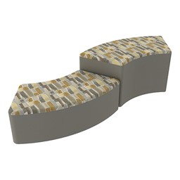 Shapes Series II Designer Soft Seating - S-Curve - Desert/Taupe