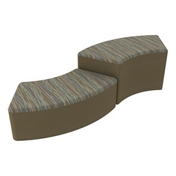 Shapes Series II Designer Soft Seating - S-Curve - Pecan/Chocolate