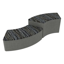 Shapes Series II Designer Soft Seating - S-Curve - Peppercorn/Gray