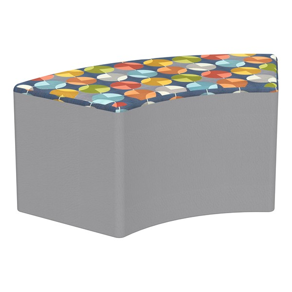 """Shapes Series II Designer Select Soft Seating - S-Curve (18"""" H) - Compass Top/Light Gray Sides"""