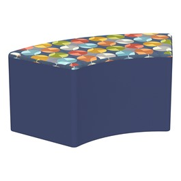 """Shapes Series II Designer Select Soft Seating - S-Curve (18\"""" H) - Compass Top/Navy Sides"""