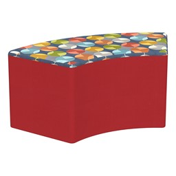 """Shapes Series II Designer Select Soft Seating - S-Curve (18"""" H) - Compass Top/Red Sides"""