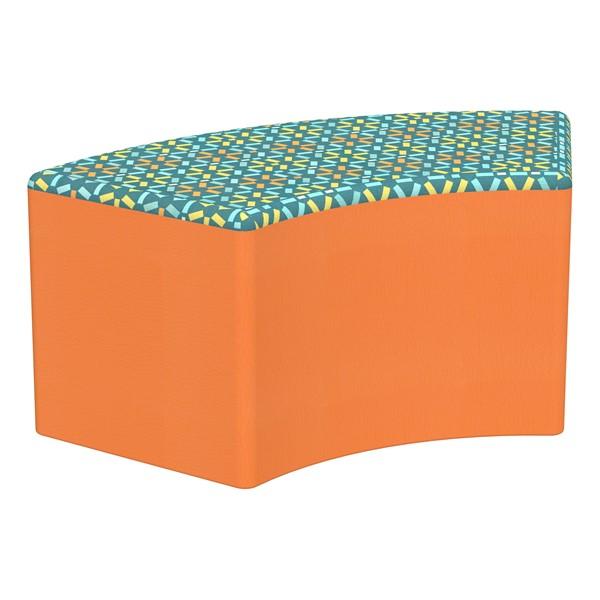 "Shapes Series II Designer Select Soft Seating - S-Curve (18"" H) - Atomic Top/Orange Sides"