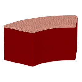 """Shapes Series II Designer Soft Seating - S-Curve (18\"""" High) - Red/Confetti"""