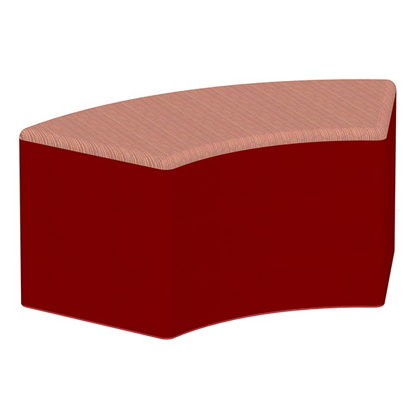 """Shapes Series II Designer Soft Seating - S-Curve (18"""" High) - Red/Confetti"""