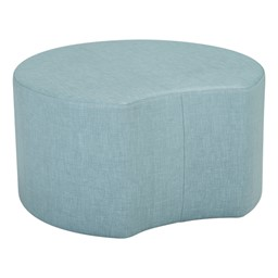 "Shapes Series II Vinyl Soft Seating - Crescent - 18"" H"