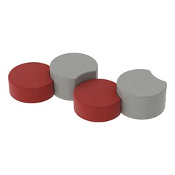 Shapes Series II Vinyl Soft Seating - Crescent - Grouped