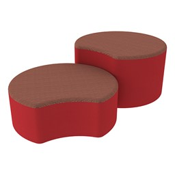 Shapes Series II Designer Soft Seating - Crescent - Brick/Red