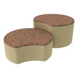 Shapes Series II Designer Soft Seating - Crescent - Dark Latte/Sand