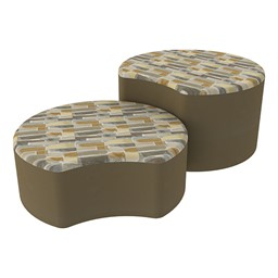 Shapes Series II Designer Soft Seating - Crescent - Desert/Chocolate