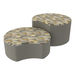 Shapes Series II Designer Soft Seating - Crescent - Desert/Taupe