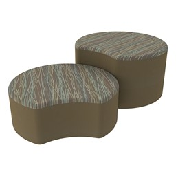 Shapes Series II Designer Soft Seating - Crescent - Pecan/Chocolate