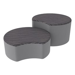 Shapes Series II Designer Soft Seating - Crescent - Pepper/Light Gray