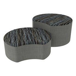 Shapes Series II Designer Soft Seating - Crescent - Peppercorn/Gray