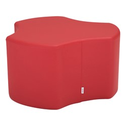 "Shapes Series II Vinyl Soft Seating - Cog (18"" High) - Red smooth grain"