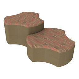 Shapes Series II Designer Soft Seating - Cog - Dark Latte/Chocolate