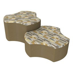 Shapes Series II Designer Soft Seating - Cog - Desert/Chocolate