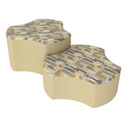 Shapes Series II Designer Soft Seating - Cog - Desert/Sand