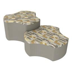 Shapes Series II Designer Soft Seating - Cog - Desert/Taupe