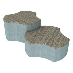 Shapes Series II Designer Soft Seating - Cog - Pecan/Blue