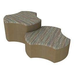 Shapes Series II Designer Soft Seating - Cog - Pecan/Chocolate
