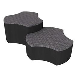 Shapes Series II Designer Soft Seating - Cog - Pepper/Black