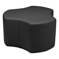 "Shapes Series II Vinyl Soft Seating - Cog (18"" High) - Black Smooth Grain"
