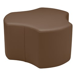 "Shapes Series II Vinyl Soft Seating - Cog (18"" High) - Chocolate Smooth Grain"