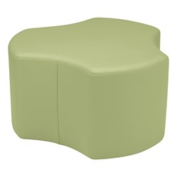 "Shapes Series II Vinyl Soft Seating - Cog (18"" High) - Fern Green Smooth Grain"