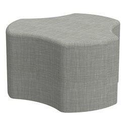 "Shapes Series II Vinyl Soft Seating - Cog (18"" High) - Gray Crosshatch"