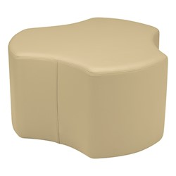 "Shapes Series II Vinyl Soft Seating - Cog (18"" High) - Sand Smooth Grain"