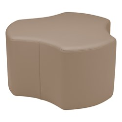 "Shapes Series II Vinyl Soft Seating - Cog (18"" High) - Taupe Smooth Grain"