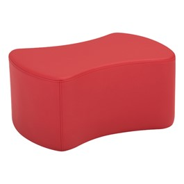 """Shapes Series II Vinyl Soft Seating - Bow-Tie (12\"""" High) - Red smooth grain"""