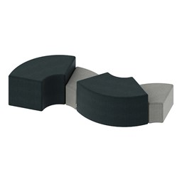 Shapes Series II Vinyl Soft Seating - Quarter Round - Grouped
