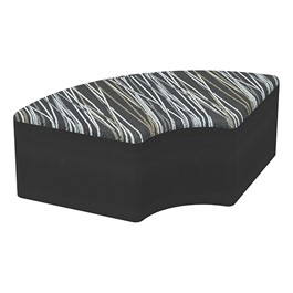 "Shapes Series II Designer Soft Seating - Quarter Round (12\"" High) - Black/Peppercorn"