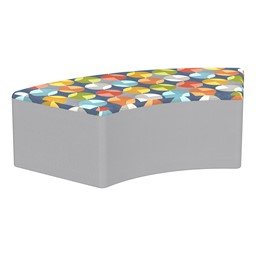 """Shapes Series II Designer Select Soft Seating - S-Curve (12"""" H) - Compass Top/Light Gray Sides"""