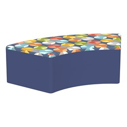 """Shapes Series II Designer Select Soft Seating - S-Curve (12"""" H) - Compass Top/Navy Sides"""