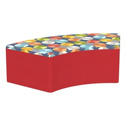 """Shapes Series II Designer Select Soft Seating - S-Curve (12"""" H) - Compass Top/Red Sides"""