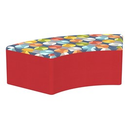 """Shapes Series II Designer Select Soft Seating - S-Curve (12\"""" H) - Compass Top/Red Sides"""