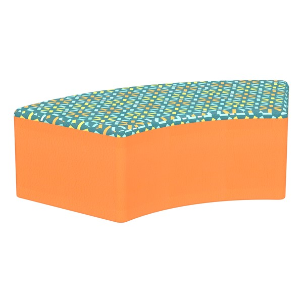 "Shapes Series II Designer Select Soft Seating - S-Curve (12"" H) - Atomic Top/Orange Sides"