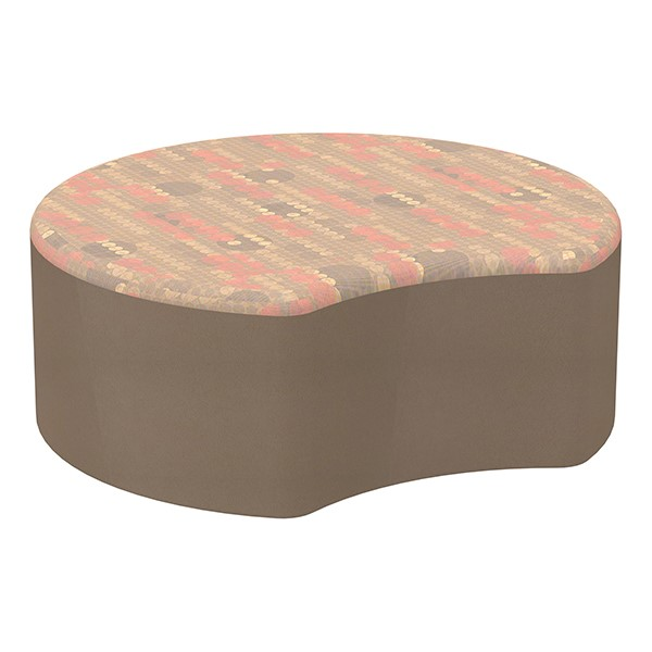 "Shapes Series II Designer Soft Seating - Crescent (12"" High) - Chocolate/Dark Latte"