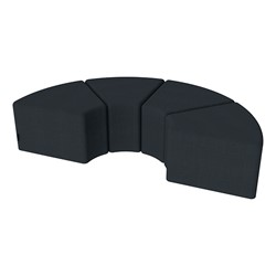 "Shapes Series II Vinyl Soft Seating - 12"" H Wedge Four-Pack - Navy Crosshatch"