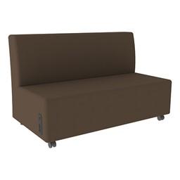 Shapes Series II Vinyl Soft Seating Sofa - Chocolate Seat & Back